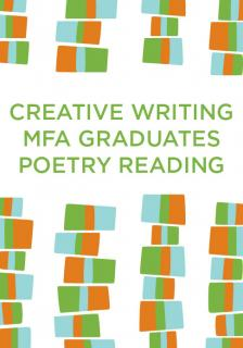 "2019 UW Poetry MFA Graduates Reading - Rebecca Bedell, Christopher Greggs, Rebekah Denison Hewitt, Wes Holtermann, Kabel Mishka Ligot, Alexis Sears - <span class=""date-display-single"">03/25/2019 - 7:00pm</span>"